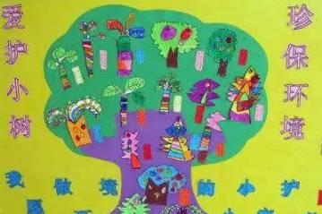 幼儿园植树节主题墙