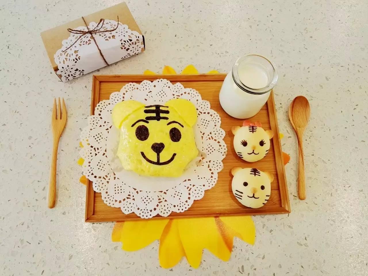 早安丨龙猫煎饭团 巧虎蛋包饭 土司焗布丁 奶酪木糠杯 彩虹芝士