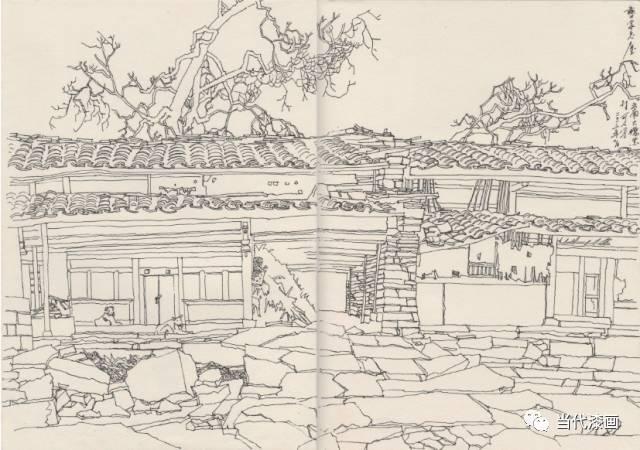 云南风景手绘画