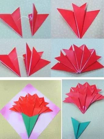 幼儿花折纸步骤图解