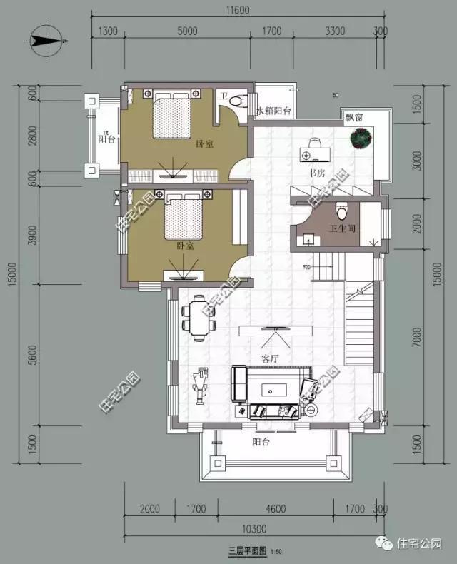 农村自建3层别墅13x15米,独立厨房,带柴火房图片