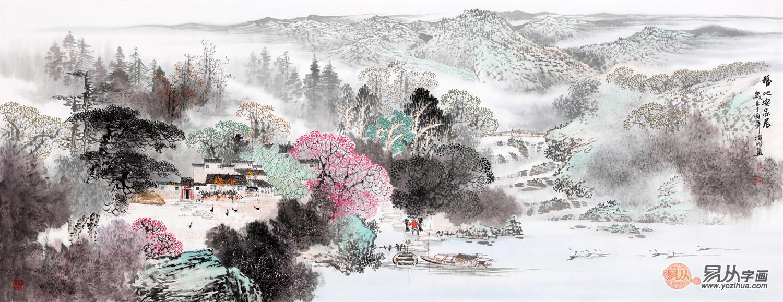 中国当代名家山水画作品赏析:意境深远 气韵俱佳图片