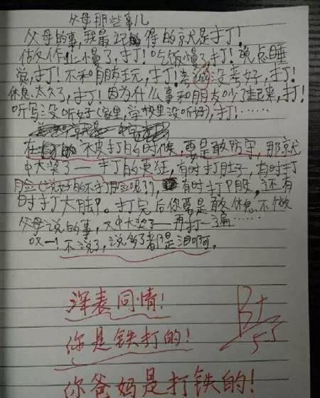 爆笑雷人的小学生日记(老师评语是亮点)