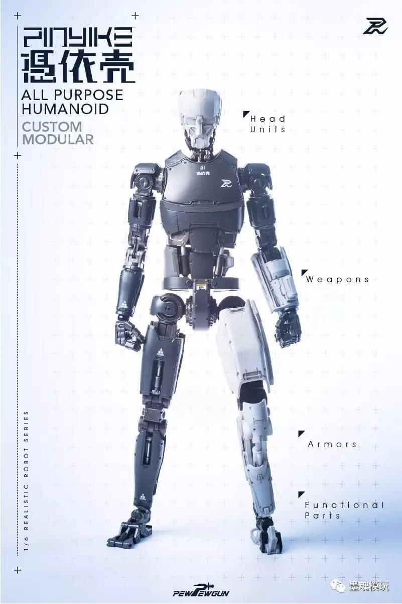 PEWPEWGUN:1/6人形机械秘密-凭依壳-v人形惊天大素体漫画图片