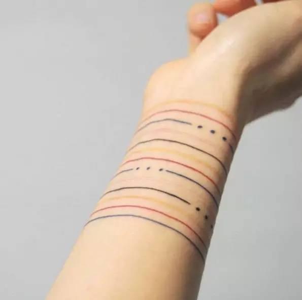 细腻清新的手腕刺青,美到不需要再买手环!