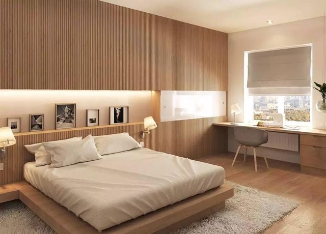 25个案例丨卧室床头墙,只用木板条也可以这么美