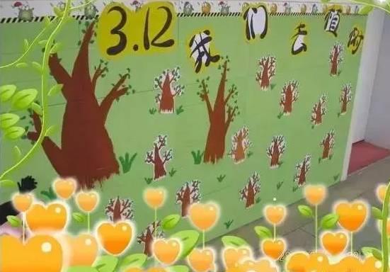 幼儿园植树节,环创素材和主题活动七则|一杰方案