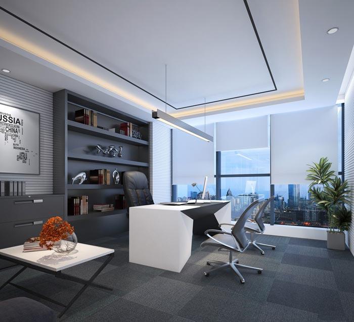 互联网金融公司办公室装修设计案例效果图