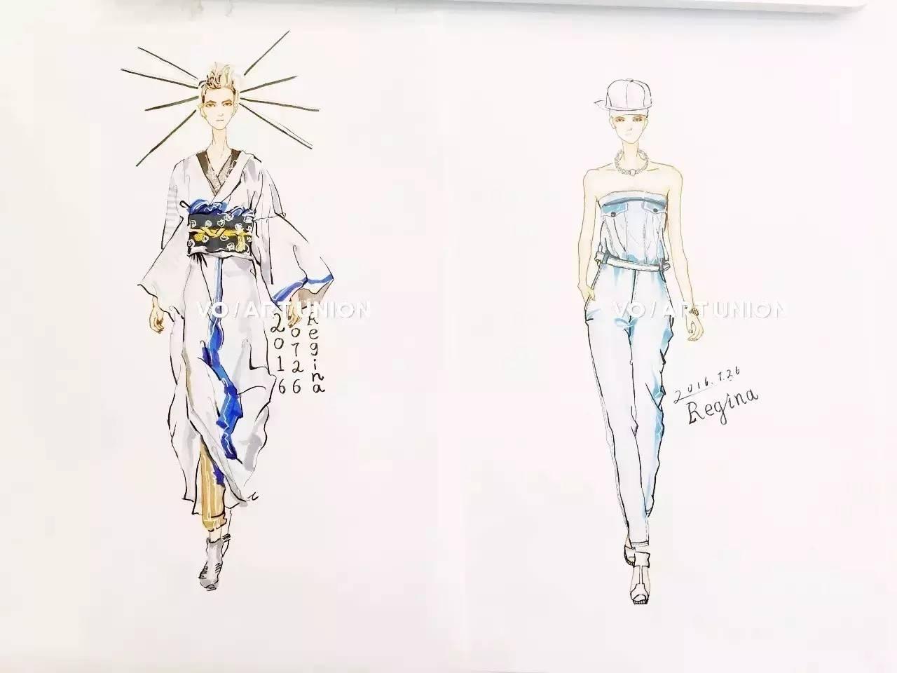 课程| 服装手绘效果图 四大亮点 从人体比例到面料表现,配饰刻画