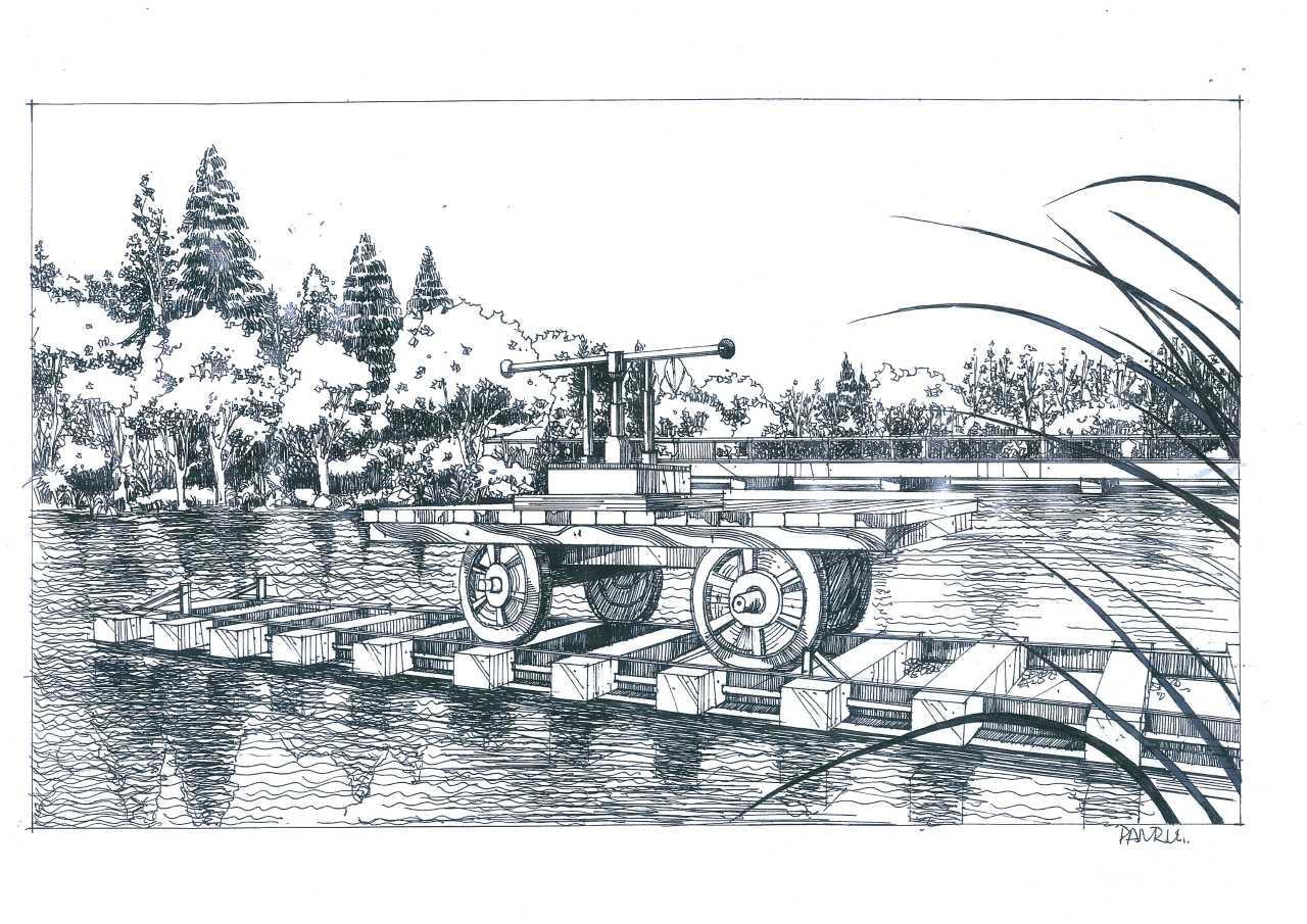 河南高校师生钢笔手绘郑州校园美景获赞