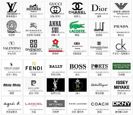 奢侈品手袋 奢侈品皮具 奢侈品服装品牌LOGO一览