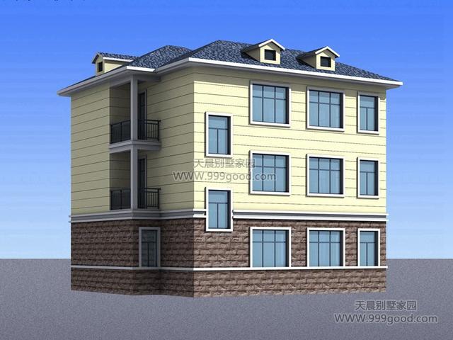 新农村12.6x10.8米别墅设计图,可出租的户型!