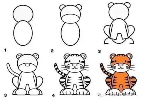 儿童简笔画 轻轻松松几笔画,教孩子学识十二生肖