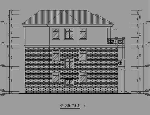 正文  盖房设计指导:多层混合结构农村别墅设计图,现浇混凝土楼,屋面.