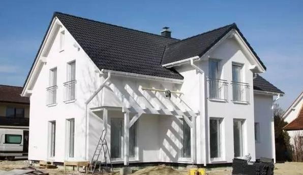 正文屋顶房产盖瓦,全部都是提前就算好了的德国图纸的的农村建造别墅别墅简欧图片