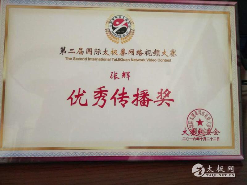 太极网年度表彰单元十大优秀馆体育之张辉-人物舞蹈校长v年度图片