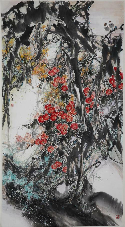 刘存惠现代写意花鸟画教学成果展学员作品欣赏