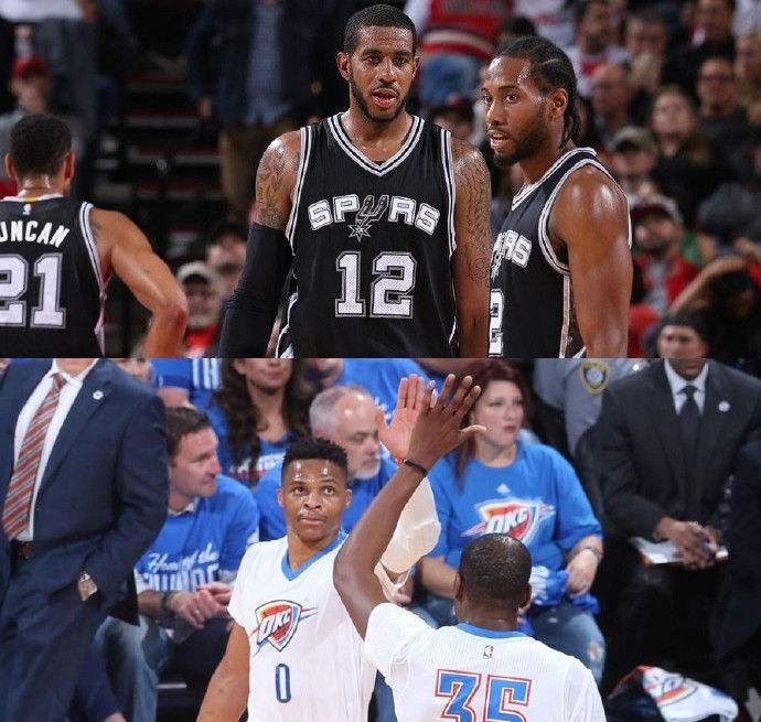 NBA直播 雷霆VS马刺直播前瞻图片