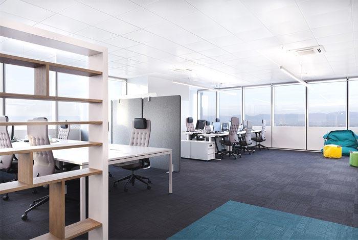 创意办公室装修设计效果图图片