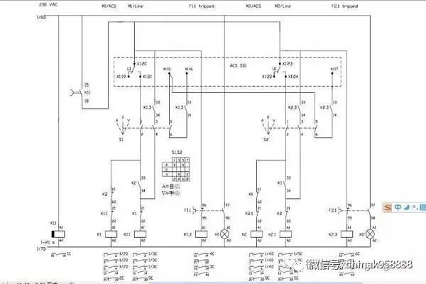 china.k工程实例:abb acs510一拖二电路图