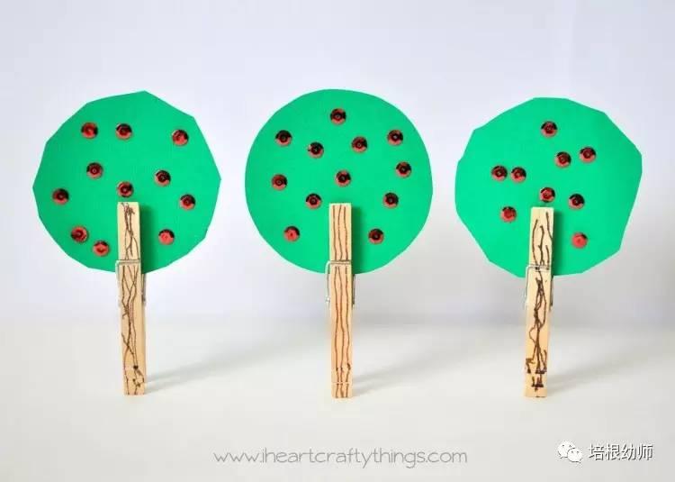 植树节创意手工和主题墙,让你的教室绿树成荫!