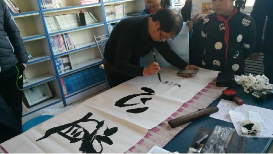 唐山爱心书法家进校园 传承中华文化