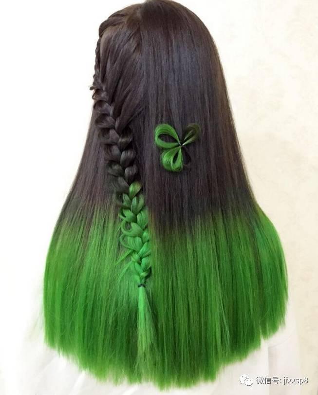 发尾染已经不局限在简单的直发染发了,各种的发型都可以发尾染,既新潮