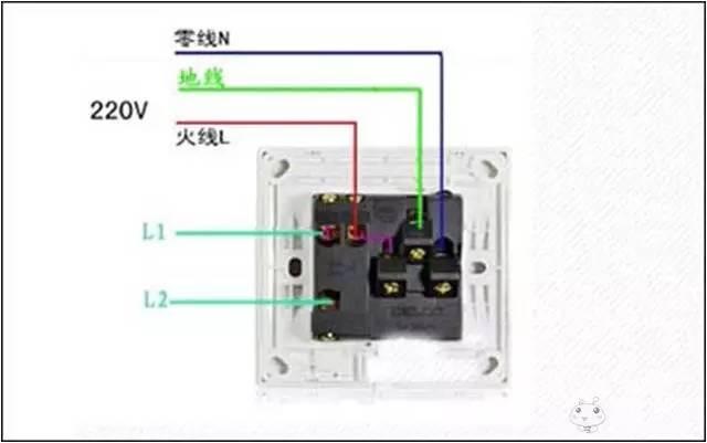 将火线接入开关的l接线端子,将开关的l1接线端子与灯头的一个接线端子