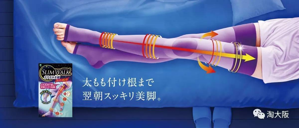 睡觉就能瘦的日本SLIMWALK瘦腿袜,简直求之不得。(图4)