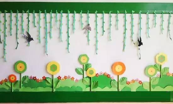幼儿园关于春天的主题手工 环创