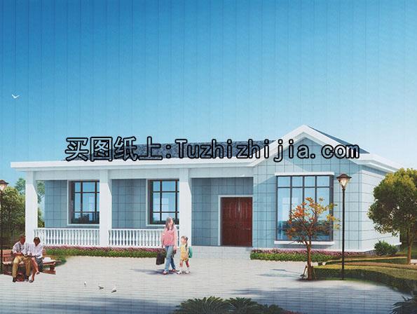 新农村一层自建别墅设计含外观效果图!
