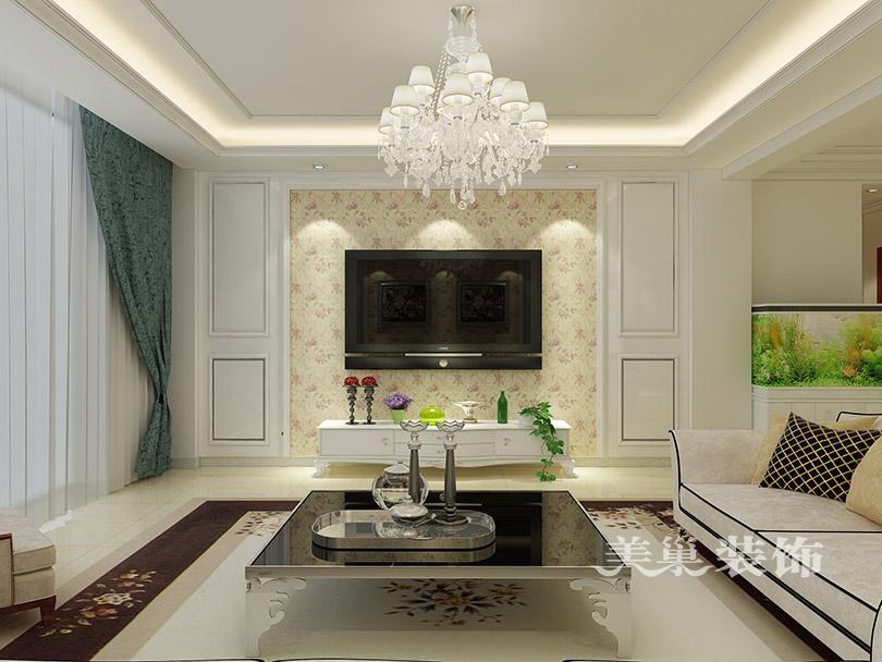 南阳玉龙苑167平三室两厅简欧风格——电视背景墙图片