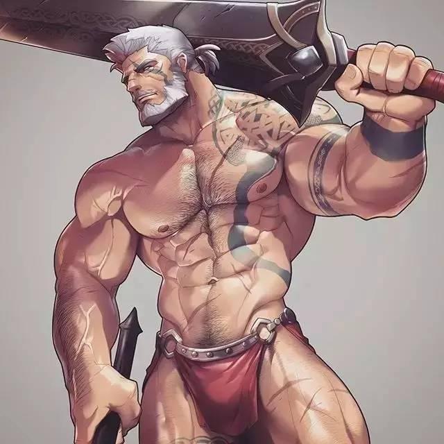 健身手机壁纸:卡通版肌肉男壁纸下载(完美的身体)图片