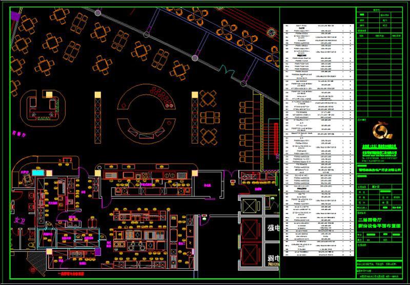 酒店厨房设备设计平面图,cad图介绍-一厨一帮图片
