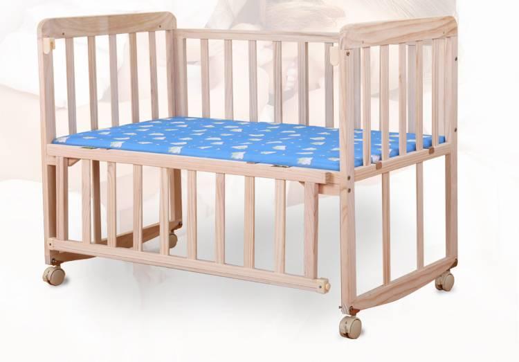 独立性格必备丨爱伢伢简约实木多功能婴儿床,自由组装