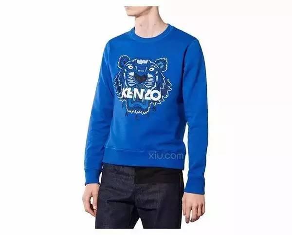 Kenzo 男士刺绣虎头卫衣-Kenzo 不容错过的虎头