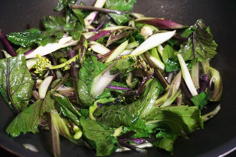 昔日皇家才能吃上的美食——爆炒红菜苔