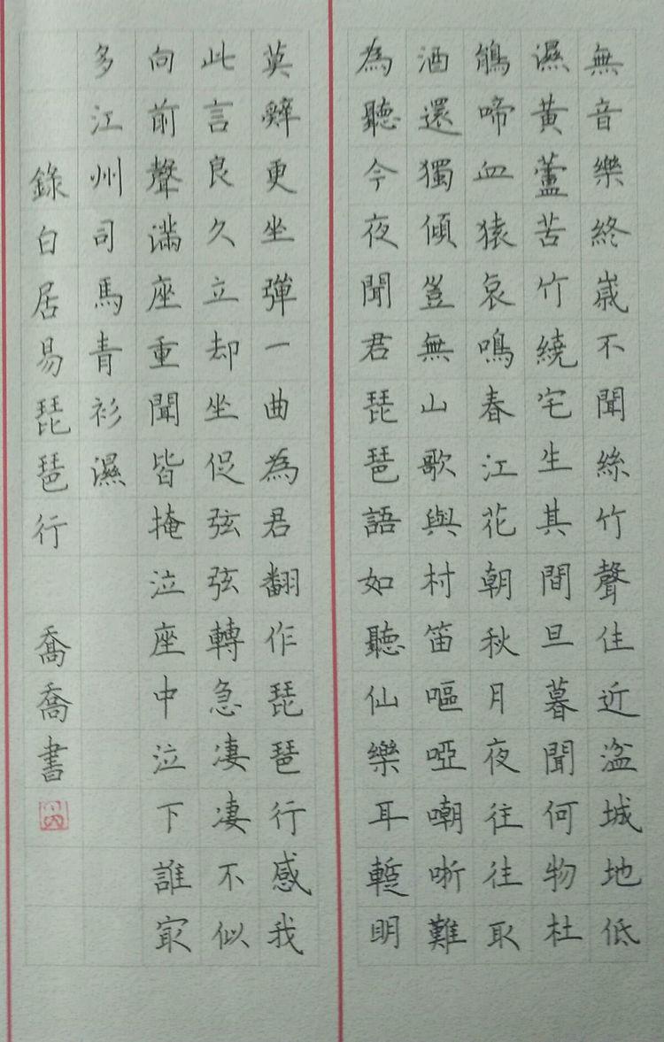 阜新大,中,小学生硬笔书法作品美妙赏心