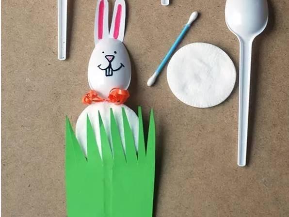 塑料勺子 创意春天手工