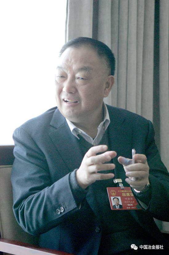 全国人大代表,浙江元立金属制品集团有限公司董事长,总经理叶新华在图片