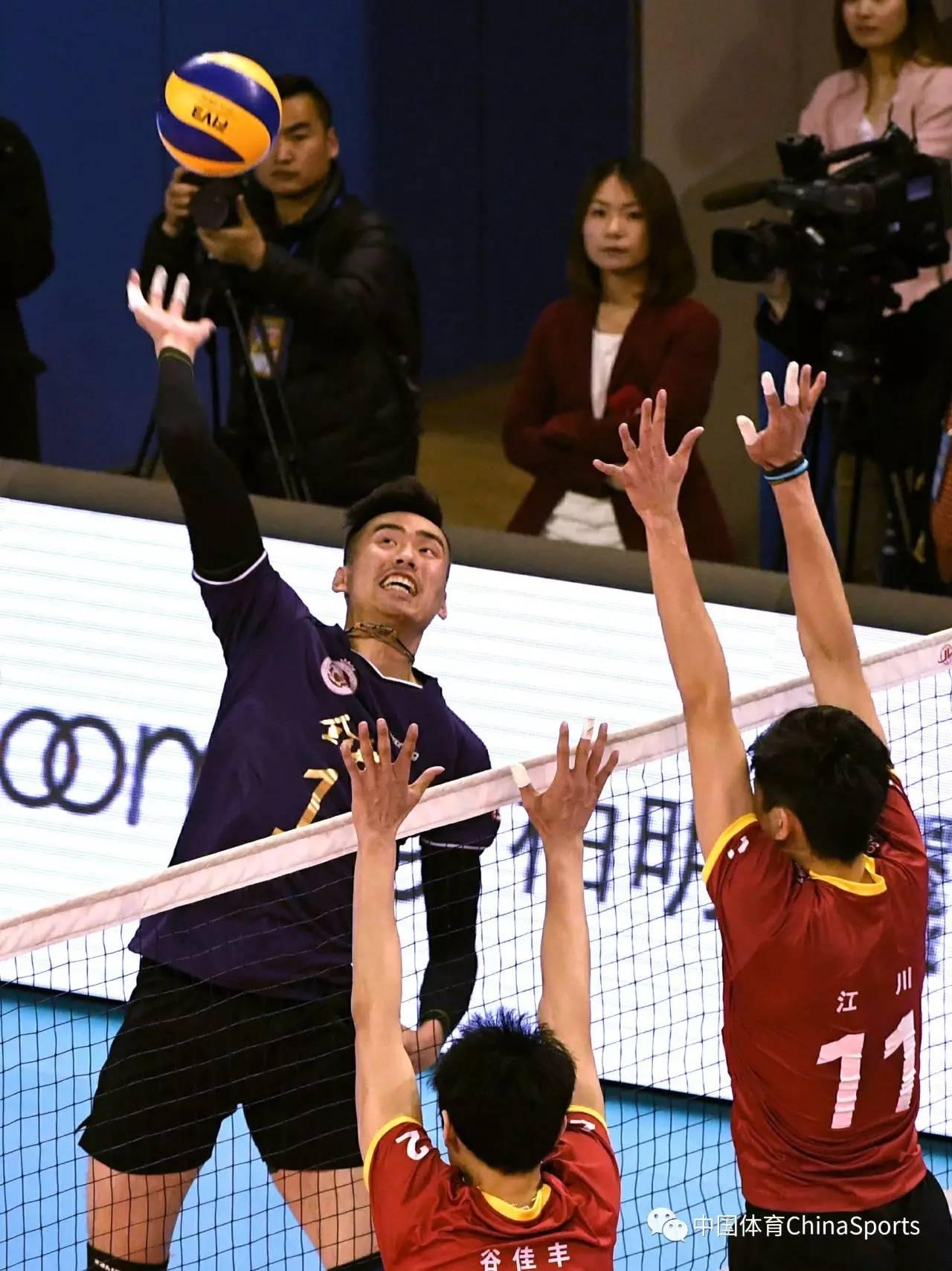 男排联赛决赛北京扳回一城