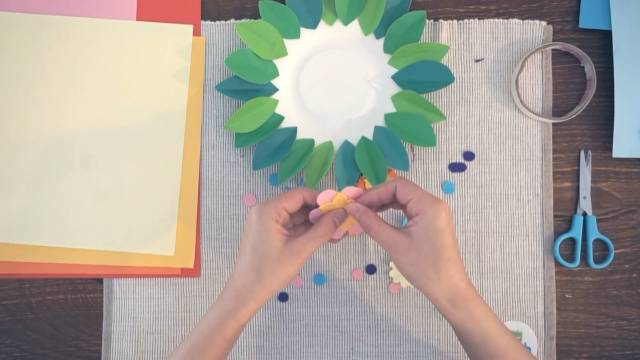 春天纸盘手工制作图片