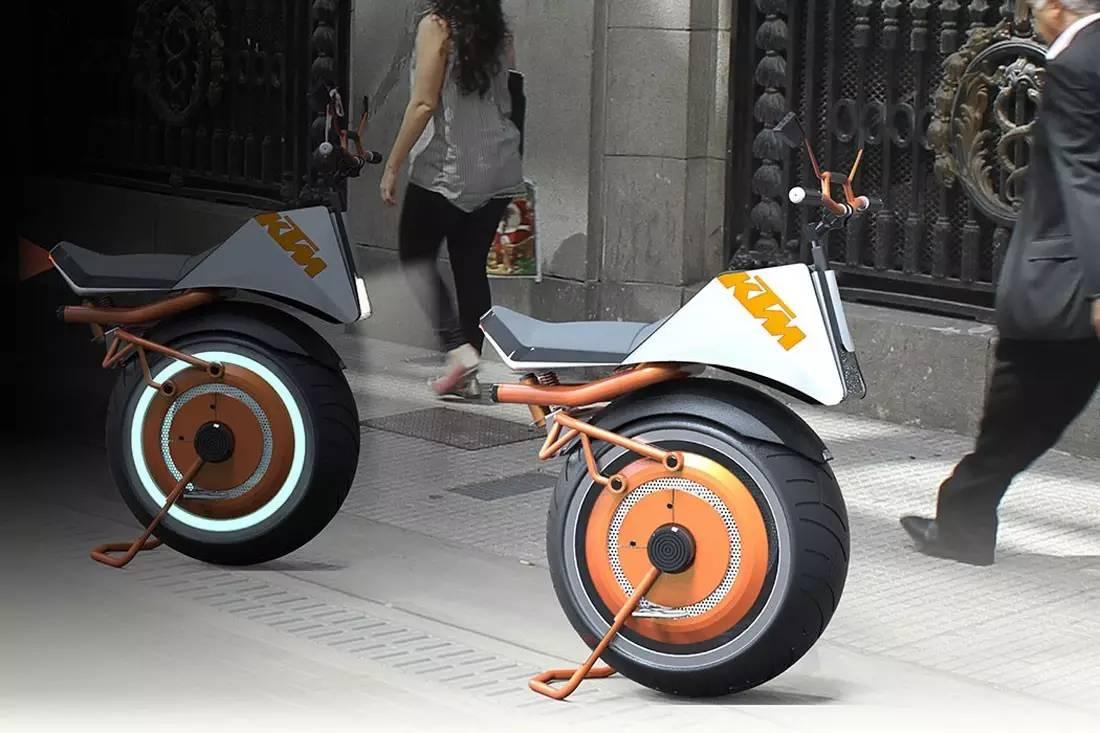 独轮KTM,在城市里撒会儿野
