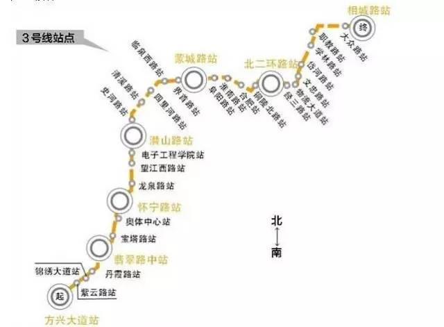 天水轻轨3号线平面图