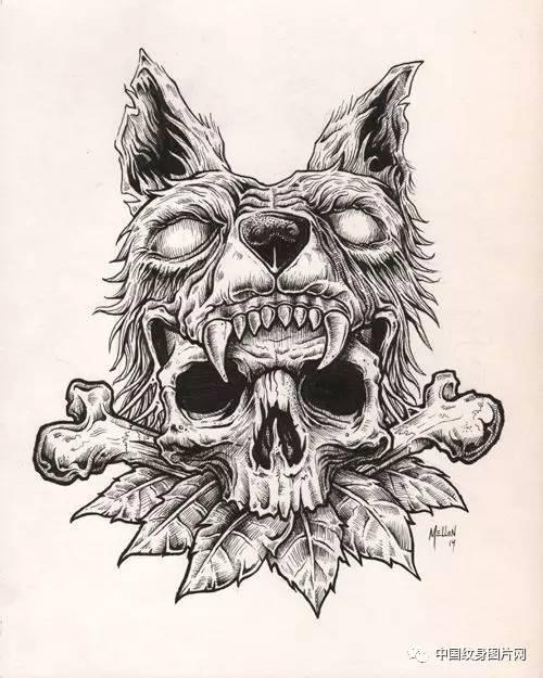 纹身素材:暗黑系小手稿