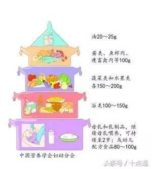 根据膳食宝塔再结合实际,我列了一个婴幼儿的适宜摄入量表格图片