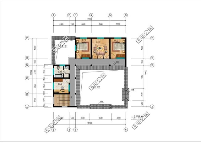 欧式别墅内部结构图