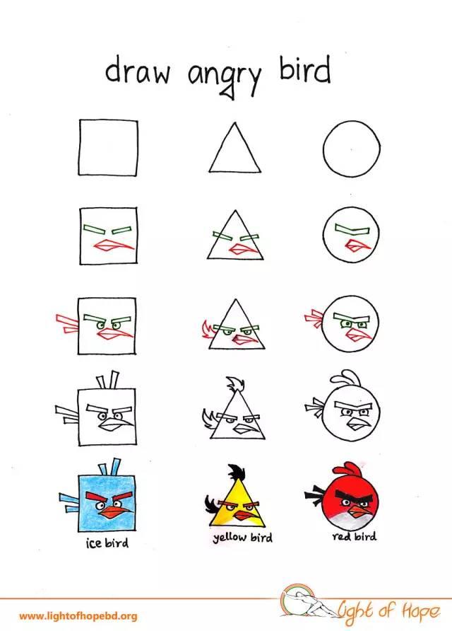 萌萌哒动物简笔画,只用三个图形就搞定,孩子一学就会!