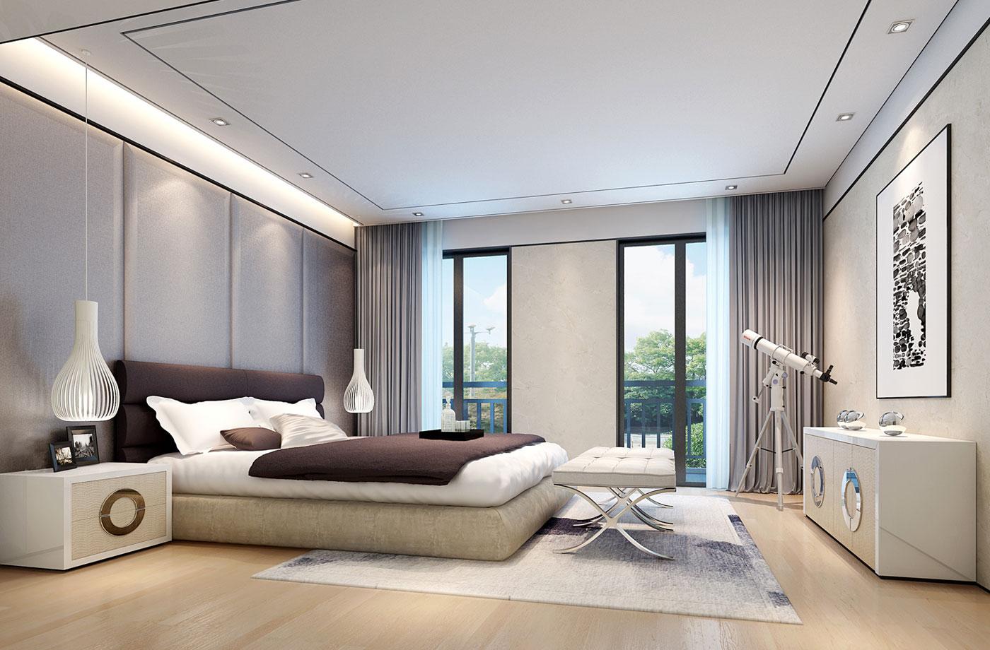 国投玖栋豪宅装修设计|现代新中式风格设计效果图