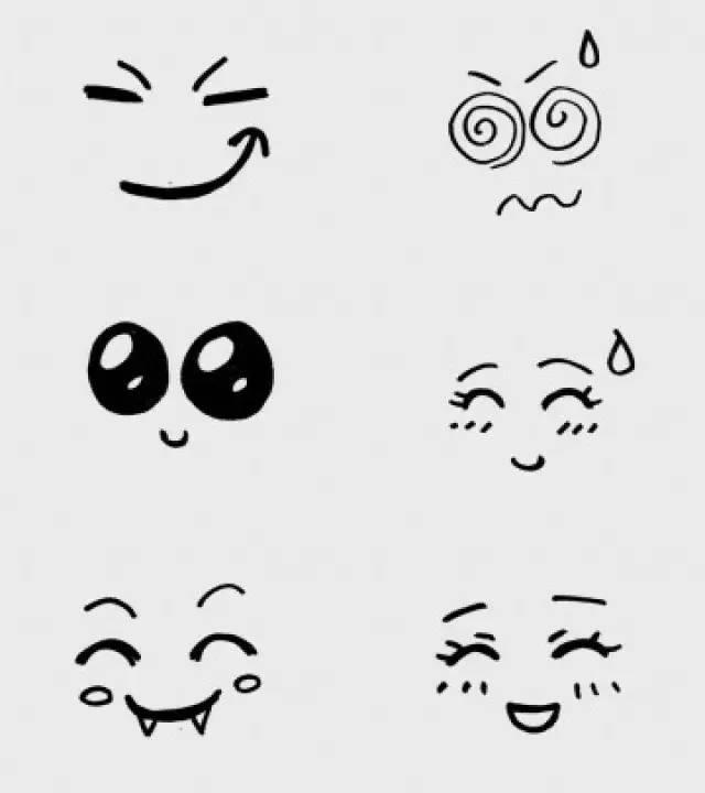 儿童简笔画 几十款表情手绘,喜怒哀乐统统画出来